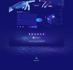Nasdacoin - Web Design on Behance Tech Websites, Blockchain, Web Design, Behance, Mockup, Editorial, Animation, Names, Design Web