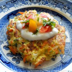 Vegetable Rosti ~ low carb, made with shredded zucchini instead of potatoes ~ excellent!