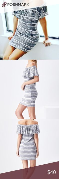 Off the shoulder dress Comfortable and cute! Perfect for the summer to fall transition!   : 51% Rayon, 44% Polyester, 5% Spandex Sadie & Sage Dresses Strapless