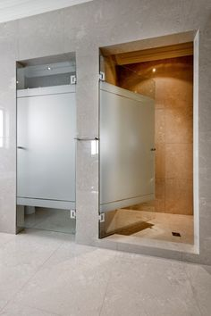 Frosted shower screen