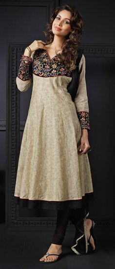Beige #Cotton Readymade #Churidar Kameez @ $157.44
