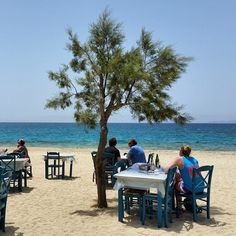 Lunch by the sea in Naxos, Greece