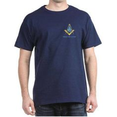 Cafepress Personalized Mason Square & Compass Men's Dark T-Shirt, Size: Medium, Blue