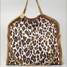 Stella McCartney Handbags - Stella McCartney Leopard Print Falabella Foldover