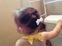 Toddler Hair Style. Easy and quick hairstyle for a toddler girl!