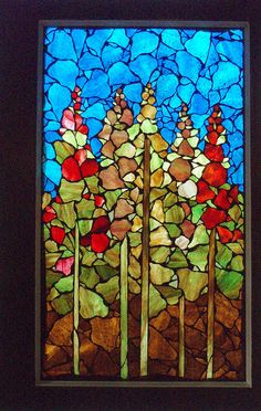 One of my mom's mosaic windows - she just sold it, from the NoPo gallery Yesterday & Tomorrow.