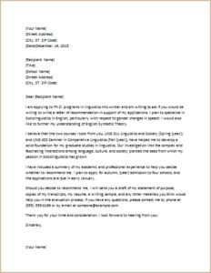 letter of recommendation for award template