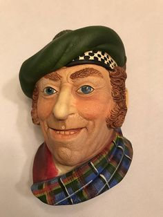 Vintage Jock by Legends Products. Made in England in 1986. Hand painted chalkware wall hanging in excellent condition.