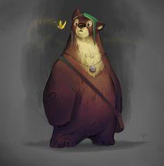Strong but friendly: BEAR, Marcus Jerner on ArtStation at http://www.artstation.com/artwork/strong-but-friendly-bear