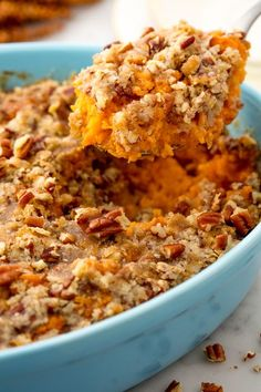 Sweet potato casserole vertical