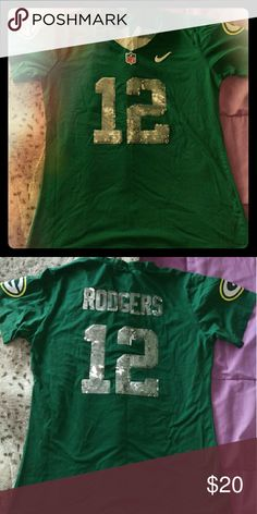 Rodger's women's jersey In great condition, comfy/stretchy material Sequined numbers and name on back I did mark Nike as brand, but this isn't a specific brand. nike Tops Tees - Short Sleeve
