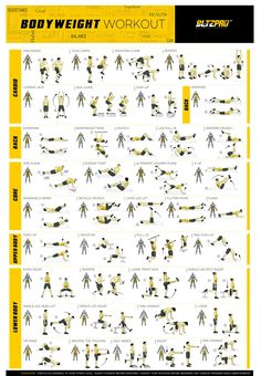 Gym Workout Chart, Gym Workout Tips, Easy Workouts, No Equipment Workout, Workout Videos, At Home Workouts, Workout Exercises, Workout Posters, Fitness Posters