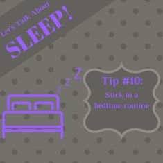 Creating a bedtime routine helps you mentally prepare for sleeping. Brushing your teeth, washing your face, writing in a journal, reading, prayer, or meditation are all activities you can try to prepare for bed. #SleepWellSunday