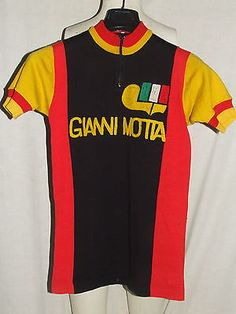 Bike Jersey Shirt Maillot, Yonne Cycling Vintage 70's Gianni Motta 50% Wool Embroidered