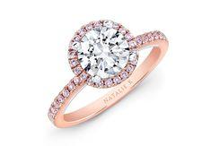 Rose gold engagement ring by Natalie K