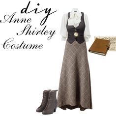 Anne Shirley by lizajayne on Polyvore featuring Alexander McQueen, J.TOMSON, Jenny M., rag & bone, Mulberry and Halloween