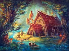 The Forest, Elena Dudnakova on ArtStation at https://www.artstation.com/artwork/the-forest-8e7bd8b6-a0fb-4858-90e5-f14a07baadd6