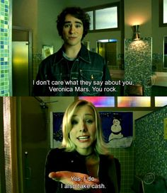 Veronica Mars - Why I almost tried to be a private investigator a few years ago. Went to photography school instead. Made the right choice. ;)