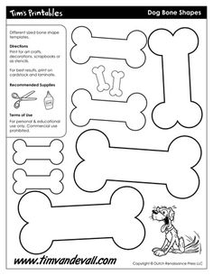 Dog Bone Shapes, free for personal arts and crafts projects. For high resolution… Shape Templates, Templates Printable Free, Printables, Dog Template, Printable Crafts, Paw Patrol Party, Paw Patrol Birthday, Arts And Crafts Projects, Crafts For Kids