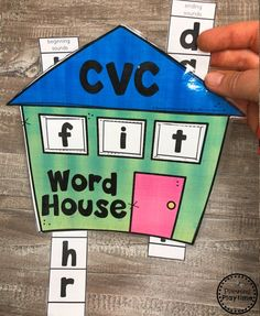 Looking for fun ways to teach CVC Words? Kids will love decoding and reading words with these fun, hands-on centers and no-prep worksheets. Beginning and ending sounds as well as medial vowels. Jolly Phonics, Teaching Phonics, Teaching Aids, Teaching Reading, Kindergarten Language Arts, Kindergarten Literacy, Rhyming Activities, House Slide, Letter A Crafts