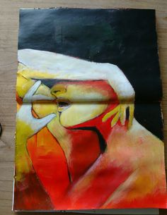 Figure drawing women acrylic.  Schets vrouw figuur. Acryl verf.  Artist: liselore gomes