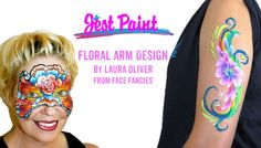 Watch Laura Oliver from Face Fancies Face Painting demo a floral arm design on Anna. You can get the supplies at www.JestPaint.com