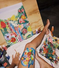 Untitled - Hobbies paining body for kids and adult Aesthetic Painting, Aesthetic Art, Painting Inspiration, Art Inspo, Art Sketches, Art Drawings, Pencil Drawings, Art Hoe, Types Of Art