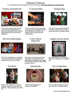 15 Christmas Traditions - Links each of the ideas to it's original source to give these fabulously creative mommies the recognition they deserve.  * Tipjunkie - Wonderful site with so many great tips and ideas!