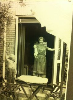 Lovely old picture of my mother and one of my brothers, taken in the 1950ties... Love how the old pictures capture the moment in another way than today.