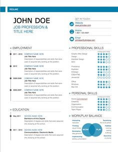 Title Page For Resume Resume Templates  One Page Resume Template  My Resume  Pinterest .