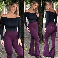 fb2177be5 Blusinha Duda Preta Calça Flare, Costureira, Roxo, Calça Jeans, Acessórios  Femininos,