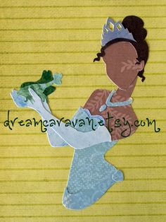READY TO SHIP Paper Princess Tiana by dreamcaravan on Etsy, $16.00
