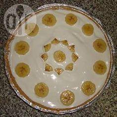 Photo de recette : Tarte banane et crème facile