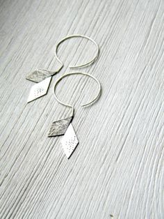 Origami Industrial Silver Earrings Vol.2  handmade por alibli, $46,00
