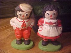 Vintage 1970's Raggedy Anne and Andy - Figurines - Children - Decor - Collectible