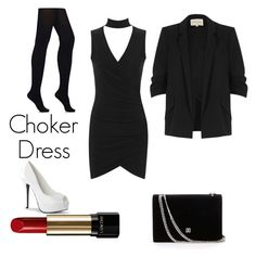 """choker dress"" by mb81032 ❤ liked on Polyvore featuring WearAll, Wolford, River Island and Lancôme"