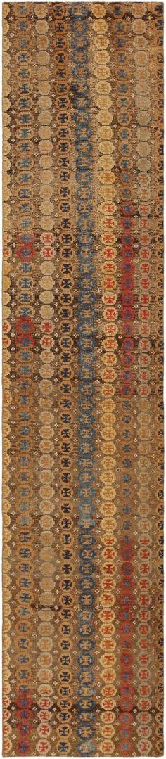 Antique Turkish Oushak Carpet 46695 Nazmiyal - By Nazmiyal