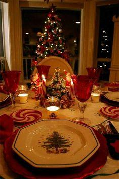 Mesa navideña.