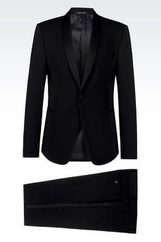 TUXEDO IN WOOL CRÊPE: One button suits Men by Armani - 1