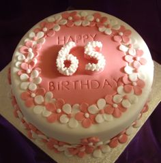 57 Best 65th Birthday Cakes Images