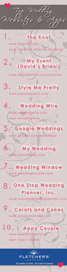 Top Wedding Planning Websites & Apps of 2013! | Revolutionizing the 21st century wedding planning process! For Katie...
