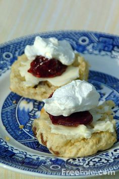 English cream tea with Devonshire clotted cream and jam - the very best