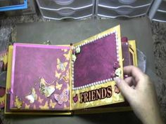 Butterfly Mini Scrapbook (sold) (+playlist) LIKE THE MS PUNCH WITH PEARLS TO ACCENT A POCKET AT 3:09