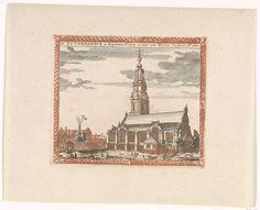 Anonymous   Zuiderkerk te Amsterdam, Anonymous, Jan Veenhuysen, Carel Allard, 1695 - 1699   De Zuiderkerk te Amsterdam met op de voorgrond verschillende figuren.