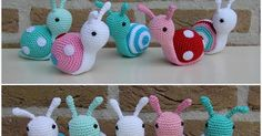 Recipe for crochet snail step by step