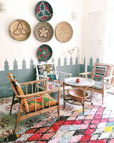 Beautiful Moroccan Boucherouite Rugs for Your House - The Urban Interior Cafe Interior, Interior Exterior, Interior Design, Interior Paint, Bohemian Interior, Bohemian Decor, Bohemian Style, Bohemian Apartment, Bohemian Living