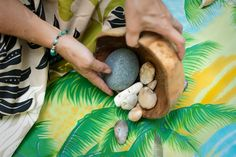 Hawaiians believe we all have a bowl of light. Each day we place a stone in our bowl when we are 'negative'. At night we Huli (turn over) the bowl and start each day more mindful of our light
