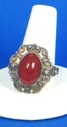 30% off Sale until 11/21/15 A very old looking #950 #silver ring. This #ring is very nice made up of silver metal that is 95% pure silver. The band on this ring is composed of a sturdy piece of silver th... #vintage #diamonds #gold #rings #necklace #carnelian #gift #classic #judysgems2 #teamlove #jewelry