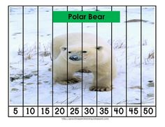 Great for a Winter Animal or Arctic Theme! Print and cut these Number Order and Skip Counting Puzzles for an easy addition to your Math Workstation...