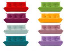 Small selection of the Togo sofa color range. http://www.domo.com.au/products/contemporary/ligne-roset/sofas/togo/